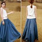 Cotton beaded bell bust big skirt